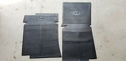 68 82 Corvette C3 BLACK RUBBER Floor Mats REPRODUCTION Pair NEW 994401 GM $39.09