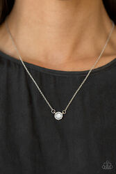 Paparazzi Necklace ~Dreamy Dreamer - White~ Gorgeous! NWT New Release! Dainty!