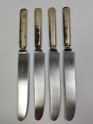 Lot of 4 Antique 1847 Rogers Bros Flatware Silverware Table Knives