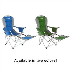 Folding Chair Footrest Carry Bag Watch Sports Fish Backyard Seat Holds 300 Pds $39.99