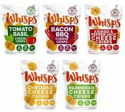 Whisps Cheese Crisps 100% Cheese Crunchy Assortment   (2.12 ounce) (5 Pack)