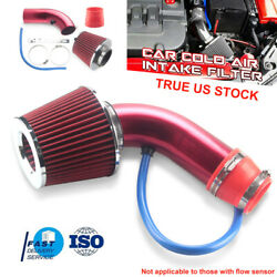 Red Aluminum Alloy Car Air Intake Kit Pipe Kit 3