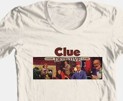 Clue T shirt retro board game 1980#x27;s vintage toy 100% graphic cotton tee $19.99