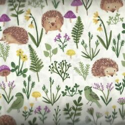 Woodland Wander hedgehogs animals forest Clothworks fabric