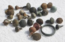 1000 1700s Antique Viking to Medieval Eras Mix of Relic Thick Bronze Buttons $39.99