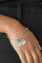 Paparazzi Jewelry ~Dreamy Dandelions - Silver~ Adjustable Bangle Bracelet!