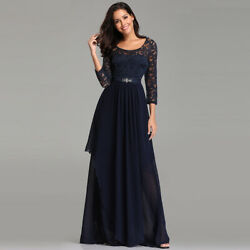 Ever pretty US 3 4 Sleeve Lace Evening Gowns Formal Cocktail Dresses Plus Size $12.99