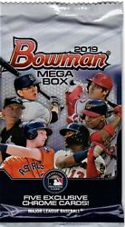 1-2019 BOWMAN CHROME BASEBALL MEGA BOX FACTORY SEALED PACK: 5 EXCLUSIVE CARDS