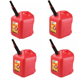 Gas Cans - 5 Gallon each 4 Pack Plastic Will Not Corrode or Rust BRAND NEW $92.99