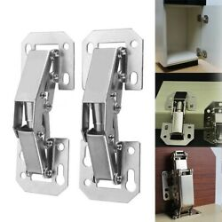 1 pair 90 Degree 4 inch Easy Mount Concealed Cabinet Sprung Door Hinges #USA
