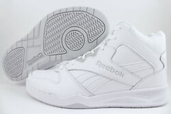 REEBOK ROYAL BB4500 H2 HIGH HI WIDE E WHITE GRAY CLASSIC BASKETBALL LEATHER MENS $68.99