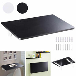 Floating Folding Computer Desk Wall Mounted PC Table Space Saving Home Furniture $57.90