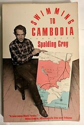 Spalding Gray Swimming to Cambodia SIGNED 1986 Killing Fields $49.95