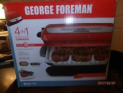George Foreman 5 serving Multi Plate Evolve Grill System with ceramic plates