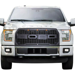 Raptor Style Conversion Front Grill for Ford F150 2015- 2017 w Amber LED Lights
