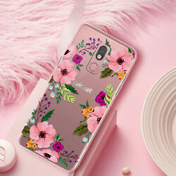 For LG Stylo 5 Plus 5x 5v Phone Case Cover Pink Floral Flower Clear Slim TPU $9.95