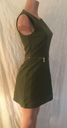 **Exotic Toasted Olive Green & Gold H&M Dress**