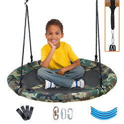 Clevr 40quot; Outdoor Saucer Kids Tree Tire Swing Camo $54.99