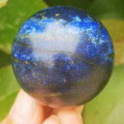 Natural Lapis lazuli jasper sphere quartz crystal ball healing 45mm