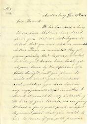 Union Ltr to Dwight Root 14th Ohio Battery from Friend Emma Lathrop 121564
