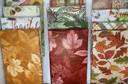 Autumn Vinyl Cloth Backed Tablecloth. Round Square Oblong. Fall party decor