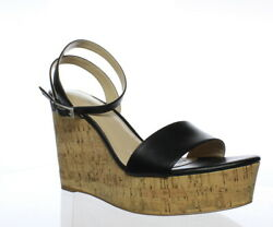 Charles David Womens Black Ankle Strap Heels Size 9.5 (163009)