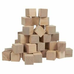50 Pcs Small Plain Wooden Cubes Wood Square Blocks for Crafts DIY Projects 1quot; $12.99