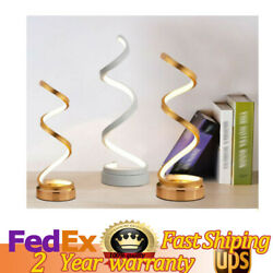NEW Table Lamps Spiral Curved Lamp Modern Curved Desk Bedside Night Warm Light $43.72