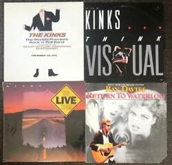 THE KINKS 4 LP VINYL Lot Top Copies UK JIVE Think Visual WATERLOO Ray Davies ++