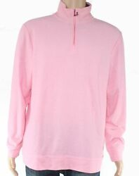Club Room Mens Sweater Pink Size Large L 12 Zip Easy Care Pullover $34 270