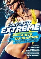 DANCE FIT EXTREME 4 DVD FAT BLASTING WORKOUT COLLECTION New Sealed