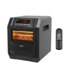 Portable Electric Infrared Space Heater 1500W 12H Timer Remote Control Indoor $49.49