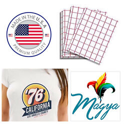 Iron on Heat Transfer Paper Light Fabrics Red Grid 8.5quot; x 11quot; 50 sheets $19.99