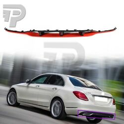 Painted Black + Red For BENZ W205 Sedan 5D A Bumper Diffuer Spoiler 15-19