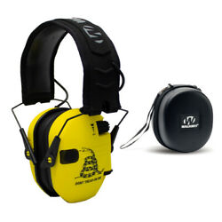 Walker's Razor Shooting Muffs Don#x27;t Tread On Me Yellow with Protective Case $59.95