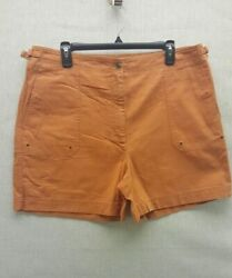 Ralph Lauren Womens 16 Burnt Orange Cotton Summer Beach Walking Ladies Shorts