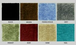 CUT TO FIT BLUE BATHROOM WALL TO WALL CARPET RUGS SIZE = 5 X 6 LOW PRICE D $54.95