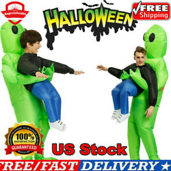Adult Kid Inflatable Green Alien Costume Carnival Halloween Cosplay Party Suit .