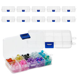 Clear Jewelry Box 12 Pack Plastic Bead Storage Container Earrings Organizer $12.99