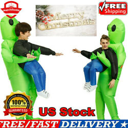 Adult Kid Inflatable Green Alien Costume Carnival Halloween Cosplay Party Suit