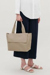 COS genuine all leather large tote bag fold over style $250 price new with tags