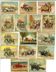 15 T37 1910 TURKEY RED AUTOMOBILE SERIES VG-EX NO DUPS  VERY NICE