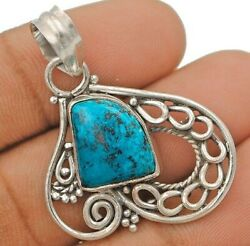 Charming Design Azurite 925 Solid Sterling Silver Pendant Jewelry C15-1