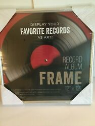 Silver Vinyl Record Album Glass Frame 12 x 12 LPs Wall Display Sealed NEW