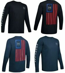Under Armour 1343565 Men#x27;s Athletic UA Freedom New Flag T Shirt Long Sleeve Tee $26.99