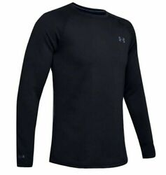 Under Armour 1353349 Men#x27;s UA ColdGear Base 4.0 Top Baselayer Crew Shirt Black $70.99