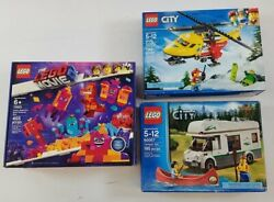 3 Sealed-in-Box Complete LEGO Sets: City The Lego Movie 2 - LOT