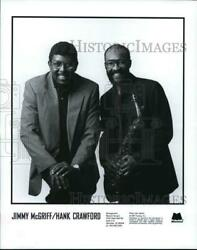 1983 Press Photo Musicians Jimmy McGriff & Hank Crawford - hcp72527