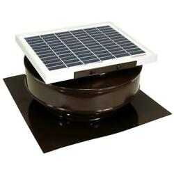 Roof Solar Powered Attic Fan Air Ventilation Mounted Exhaust Vent Coated 5 Watt $58.95