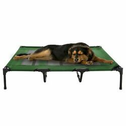 XL Dog Bed Indoor Outdoor Raised Elevated Cot and Travel Case 48 x 35 In $47.99